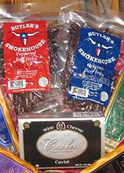 With a world full of jerky products, how do you judge jerky? We think that good jerky comes from only the highest quality hand-sliced premium meats. Jerky made by machine processing with low grade meats does not rank high on our list. Good jerky takes time. This jerky is made using only the highest quality meats with one-of-a-kind seasoning. It is slow smoked, then cut and packaged by hand. We only carry naturally-flavored jerky that is low in sugars, preservatives, and fat. When enjoying jerky, you do not have to sacrifice taste for healthy eating! All meat is U.S. inspected and passed by the Department of Agriculture.