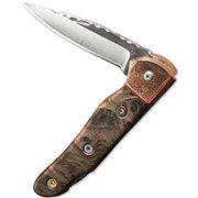 StClair Limited Edition Burl Folder Knife
