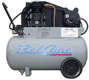For small business, residence or any compressed air need, the BelAire Single Stage Compressor offers high volume, can operate on low amperage single phase power, and are mounted on rugged receiver tanks to improve the consistency of your air flow.