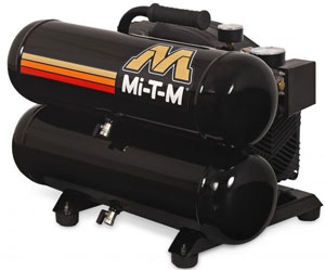 Mi-T-M manufactures over 30 models of air compressors giving customers a choice from electric or gasoline, single-stage or two-stage, and portable or stationary.